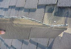 カラーベスト屋根材割れ補修