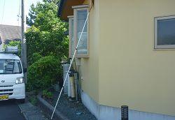 屋根軒先の蜘蛛の巣取り【アフターメンテナンス】