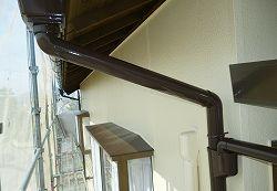 【焼津市】外壁塗装の樋など上塗り完了!