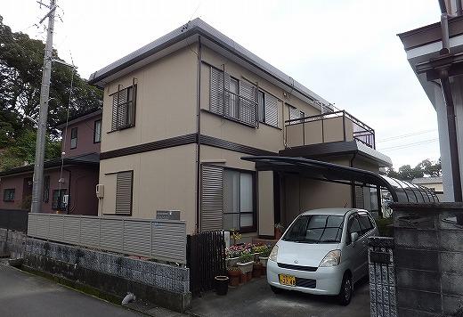 藤枝市青葉町 ガイナ外壁屋根塗装工事 K様
