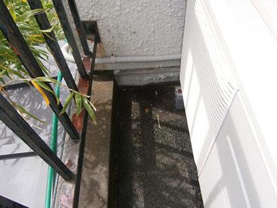 施工前 ベランダ雨漏り箇所